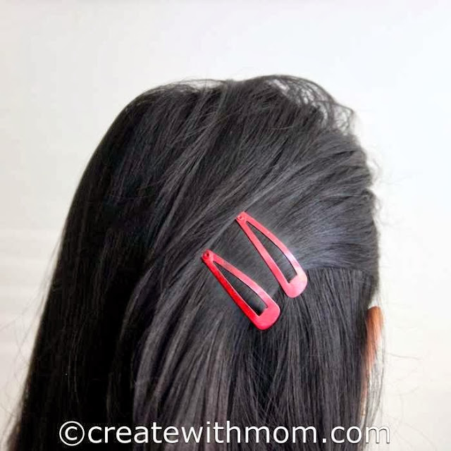 Upcycling Hair Clips with nail polish