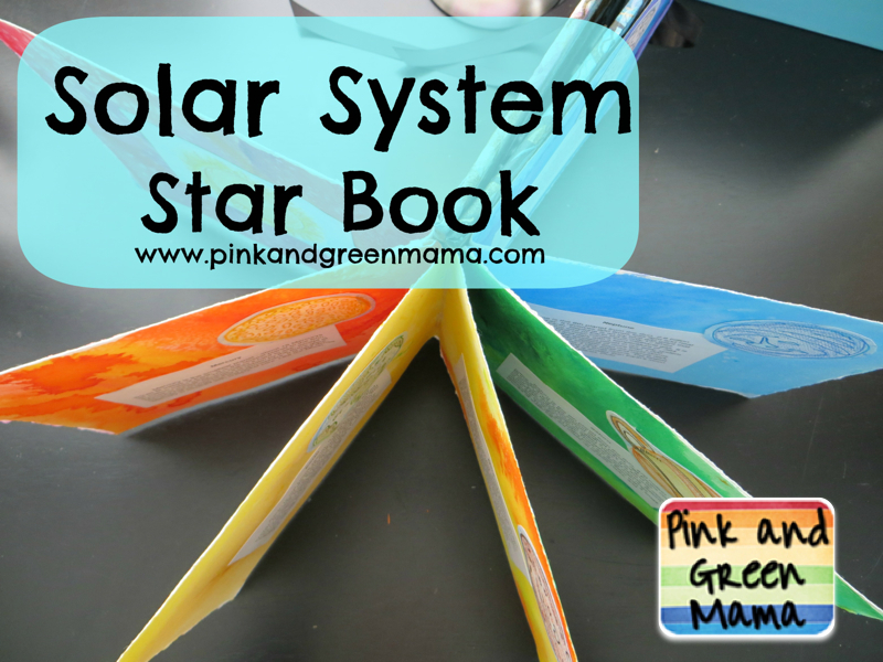 Pink And Green Mama Solar System Star Style Book Report