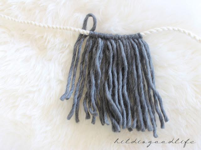 Woolen Wallhanger Boho Style Detail