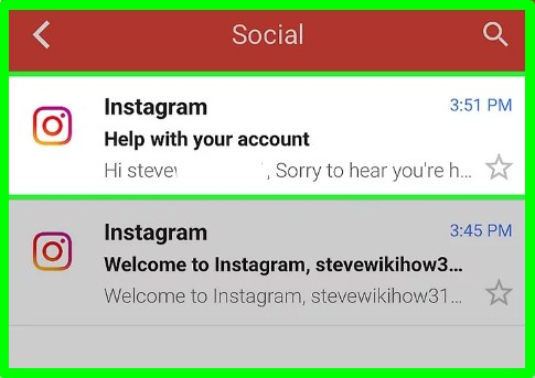 how do you reset instagram password with email address