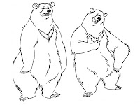 Funny Bear Kids Printable Coloring Pages