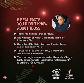 #BBNaija: 5 Facts That You Didn't Know About Tboss (Photo)...