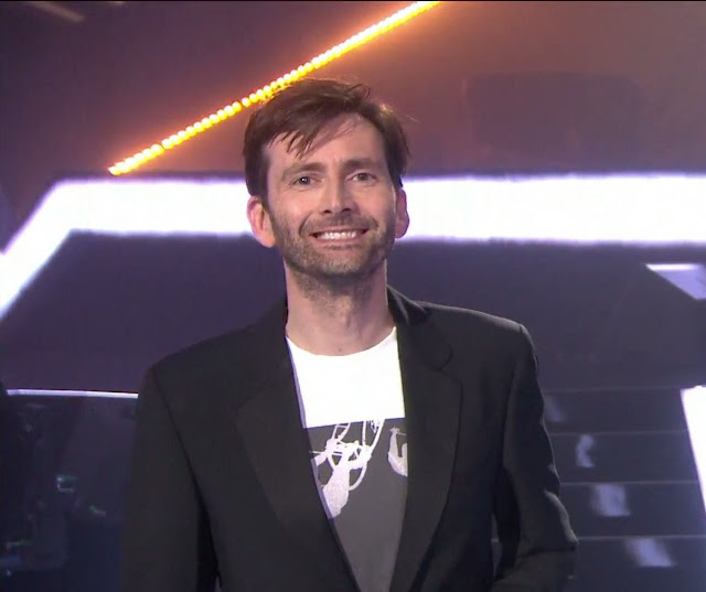 David Tennant presenting an award at The Brit Awards - 22/2/17