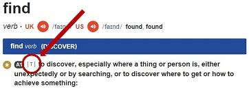 Identfikasi kata kerja transitif pada kamus