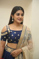 Niveda Thomas in Lovely Blue Cold Shoulder Ghagra Choli Transparent Chunni ~  Exclusive Celebrities Galleries 057.JPG