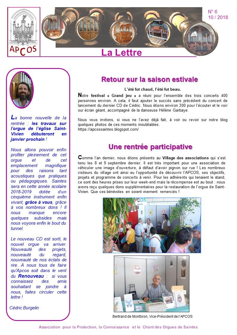 Lettre n°6 - p 1 - Apcossaintes