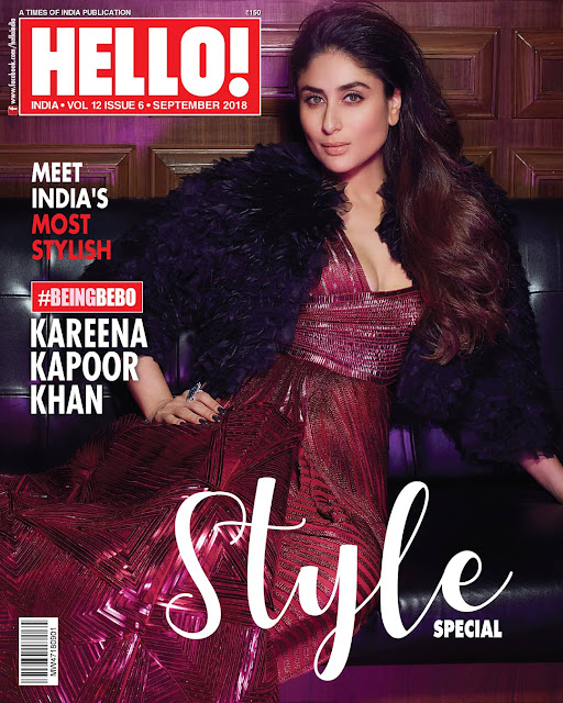 Kareena Kapoor Covers Hello Mag Sep 2018