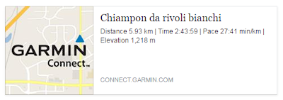 DATI GARMIN CHIAMPON
