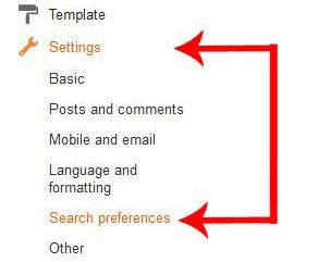 আপনার ব্লগে লগইন করে Settings -> Search Preferences এ ক্লিক করুন।