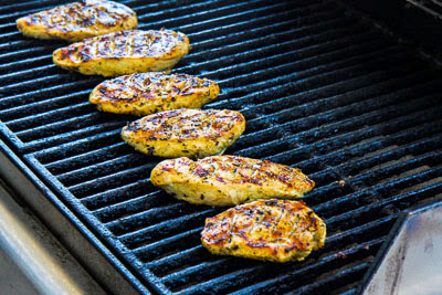 Garlic, Lemon, and Herb Grilled Chicken found on KalynsKitchen.com