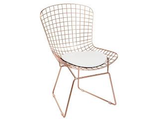 silla metal bronce
