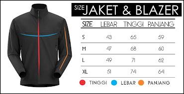 jas exclusive size chart jaket dan blazer