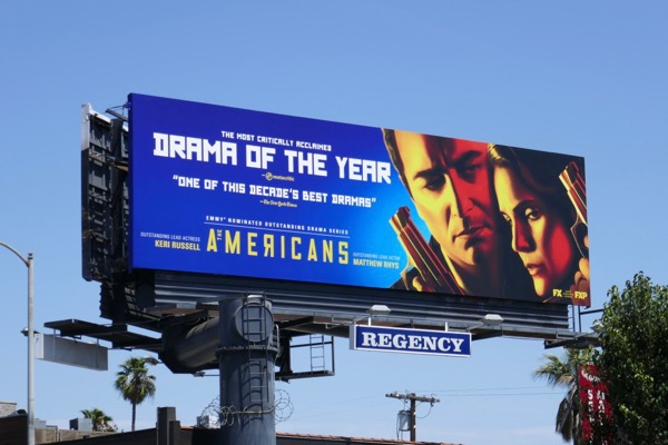 Americans Drama of year 2018 Emmy nominee billboard