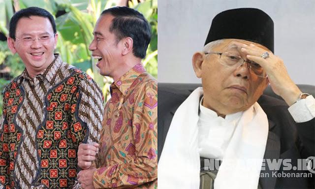 Pengamat: Jika Ahok Gantikan Ma'ruf Amin, Jokowi akan Kalah