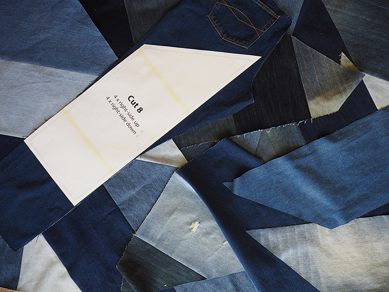 Making the Blue Giant denim quilt
