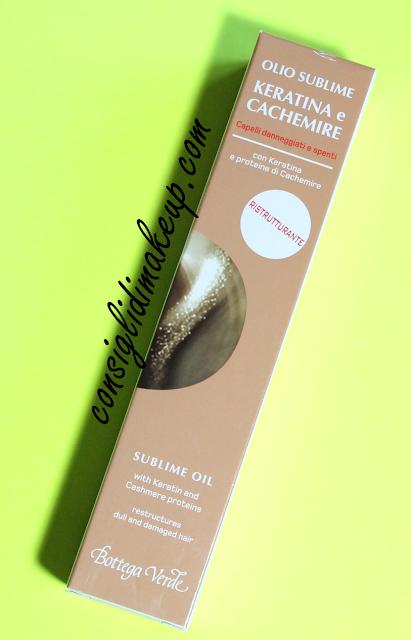 Review: Olio sublime Keratina e Cachemire con Keratina e proteine di Cachemire - Bottega Verde