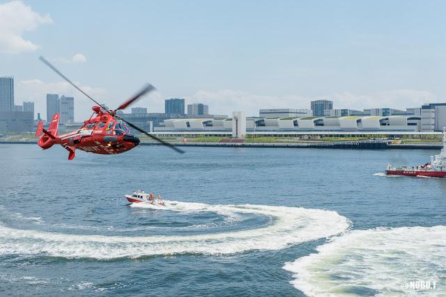 東京消防庁航空隊ヘリ「かもめ」