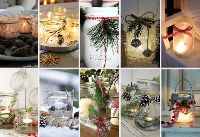 40+ Χριστουγεννιάτικες ιδέες με ΓΥΑΛΙΝΑ ΒΑΖΑ