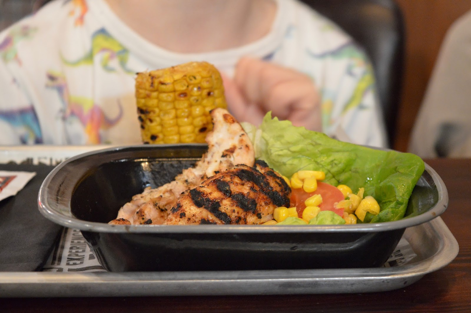 Red's True BBQ Newcastle | Menu Review (including Children's Menu) - kids main chicken and corn on cob