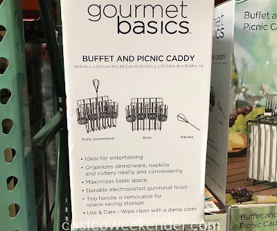 Costco 1135910 - Gourmet Basics by Mikasa Buffet and Picnic Caddy: great for dinner parties and bbqs