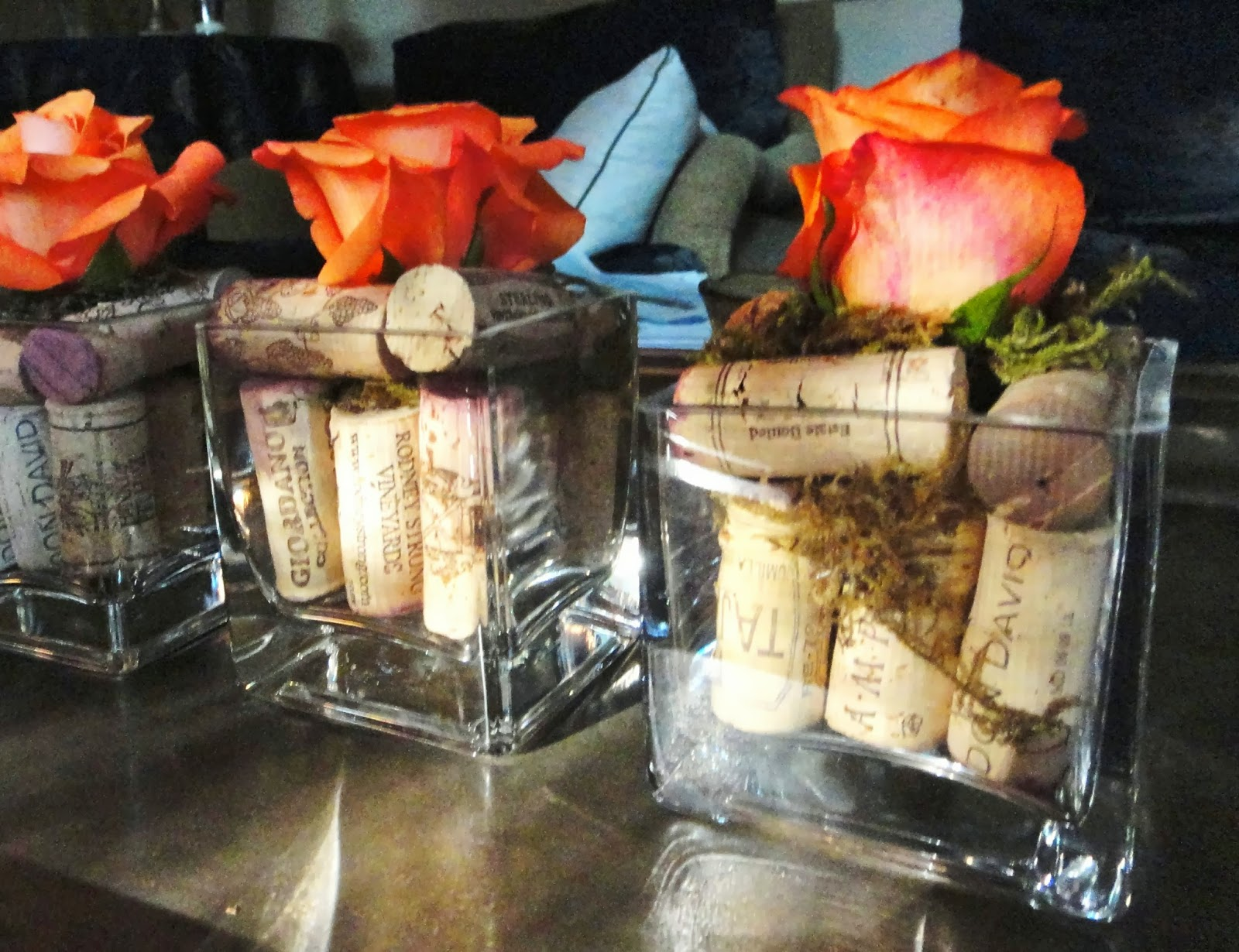 Table Decor With Corks
