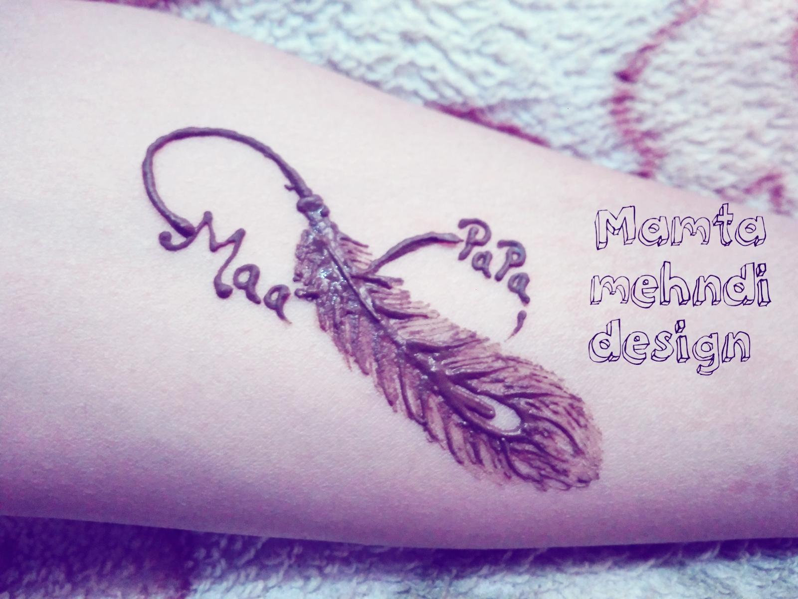 Mamta Mehndi Design Ma Papa Tattoo Design