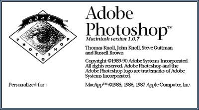photoshop versi 1.0