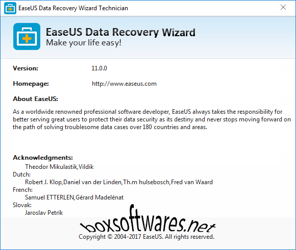EaseUS Data Recovery Wizard 11 Serial Key
