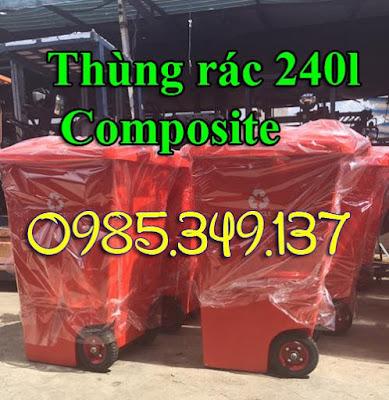 Thùng rác 240 lít Composite