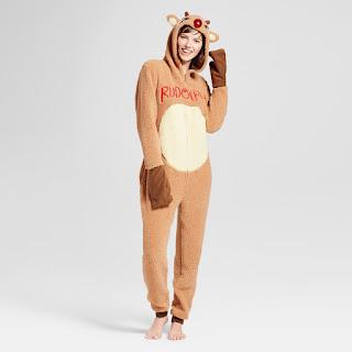 rudolph reindeer onesie christmas onesie pajamas