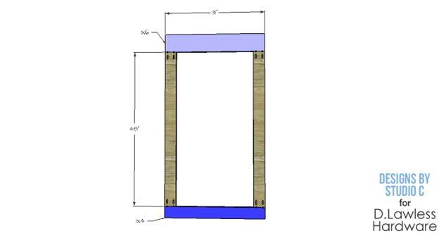 DIY Corkboard Plans - D. Lawless Hardware - Cut List