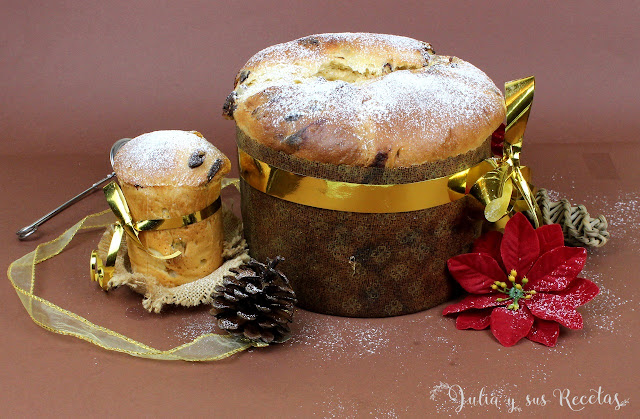 Panettone o Pan dulce de Navidad. Julia y sus recetas