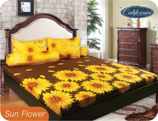 Sprei california motif sun flower