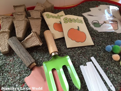 Gardening themed sensory play activity for children