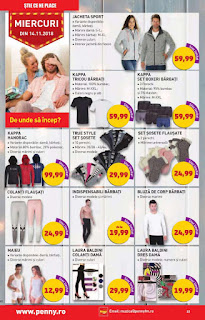 catalogul PENNY 14 - 20 noiembrie 2018 promotii imbracaminte