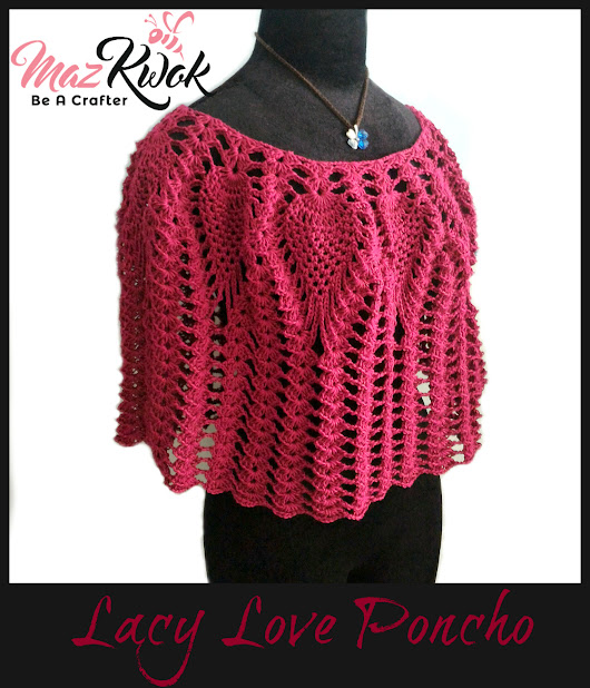 Lacy Love Poncho - free crochet pattern