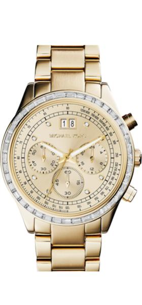 Michael Kors 'Brinkley' Crystal Bezel Chronograph Bracelet Watch, 40mm