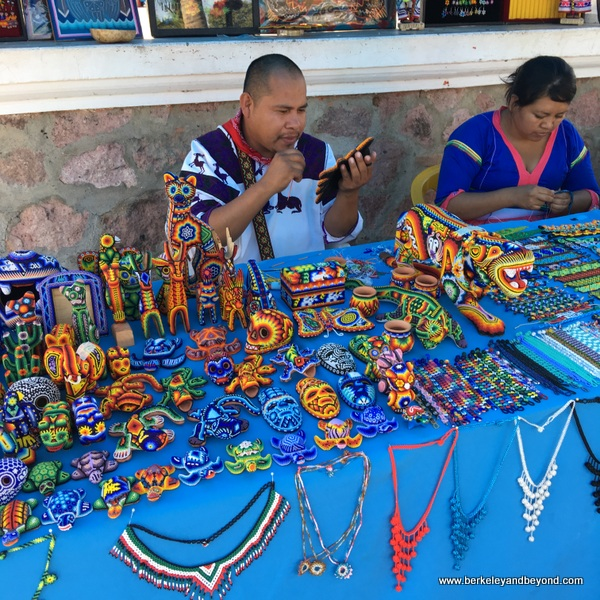 colorful Huichol Indian bead items in Bucerias, Mexico