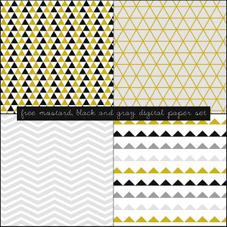 Free Mustard, Black and Gray Digital Paper