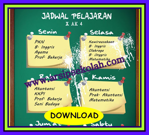 Download Aplikasi Jadwal Pelajaran Sekolah 2017/2018