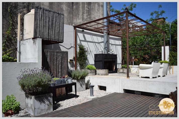 Workshop ABC deco styling en Host Husares Home Studio. El living de la terraza es increible