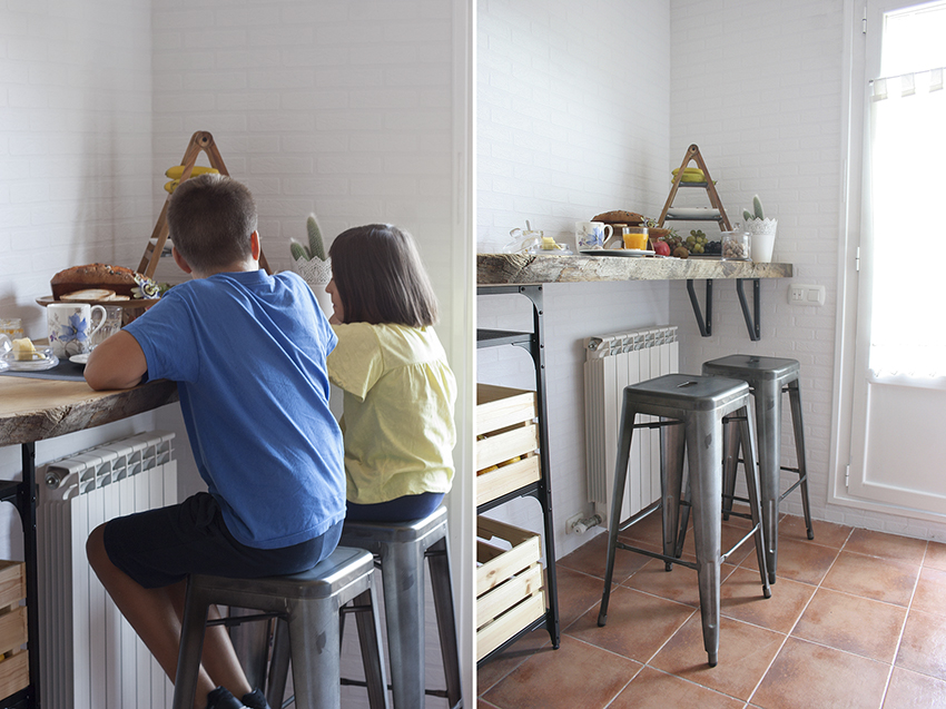 Diy barra de madera raw para nuestra cocina handbox for Barra cocina madera