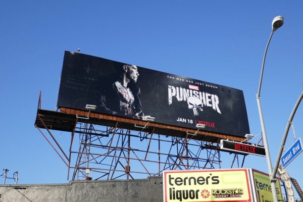 Punisher season 2 Netflix billboard