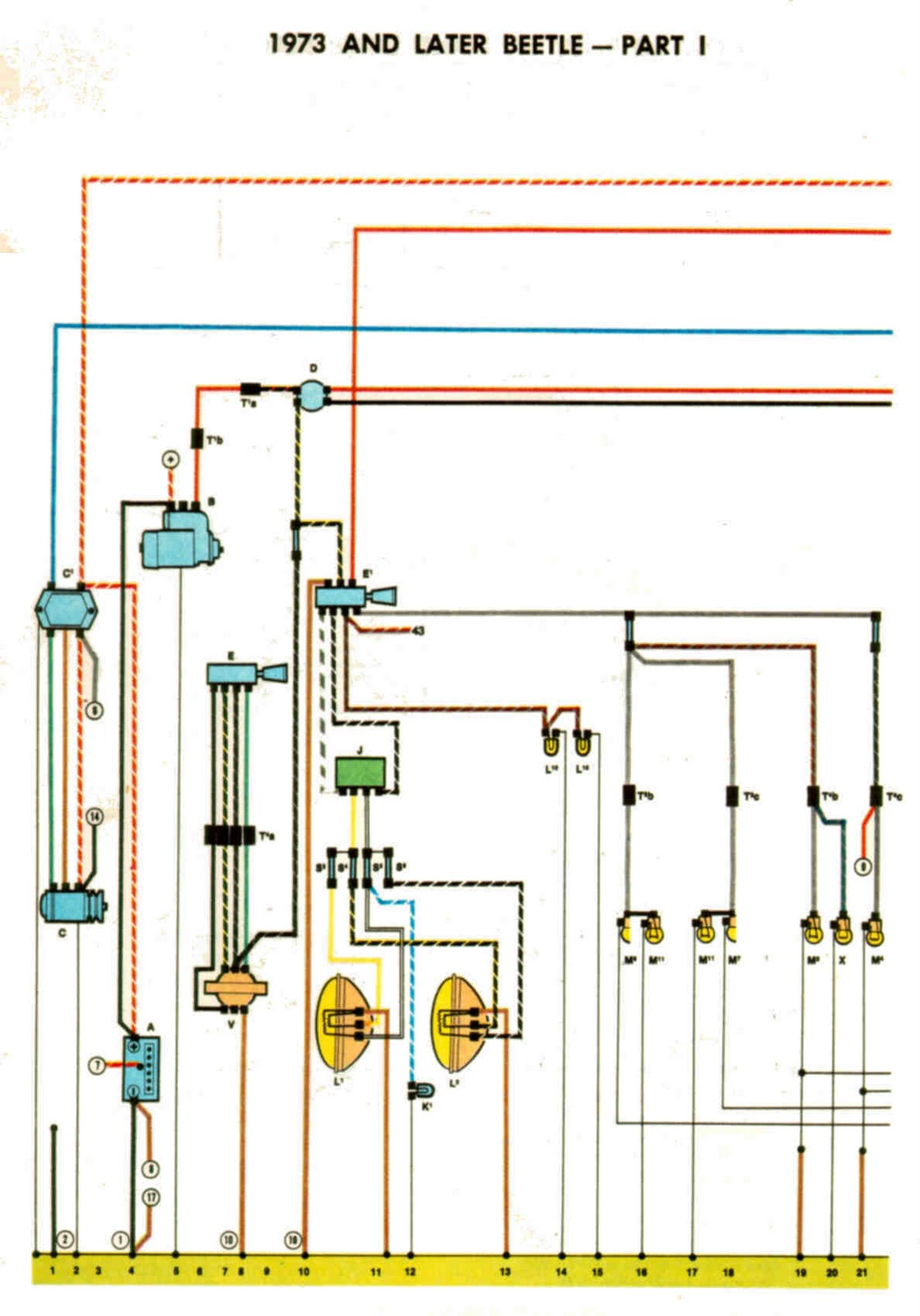 1971 Vw Beetle Turn Signal Wiring Diagram For Rim Lighting 72 Super Fuse Box Steering Column