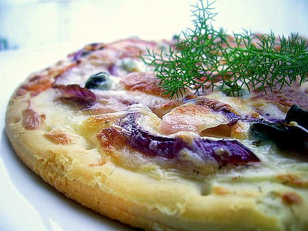 Recette Pizza fine au saumon fumé