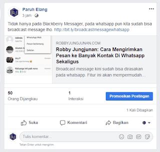 cara menghilangkan nama blog saat share di facebook