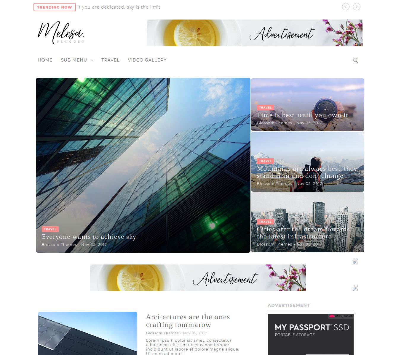 Melesa Blogger Template