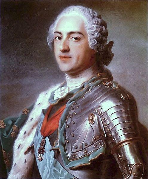 Louis XV of France by Maurice Quentin de La Tour, 1748