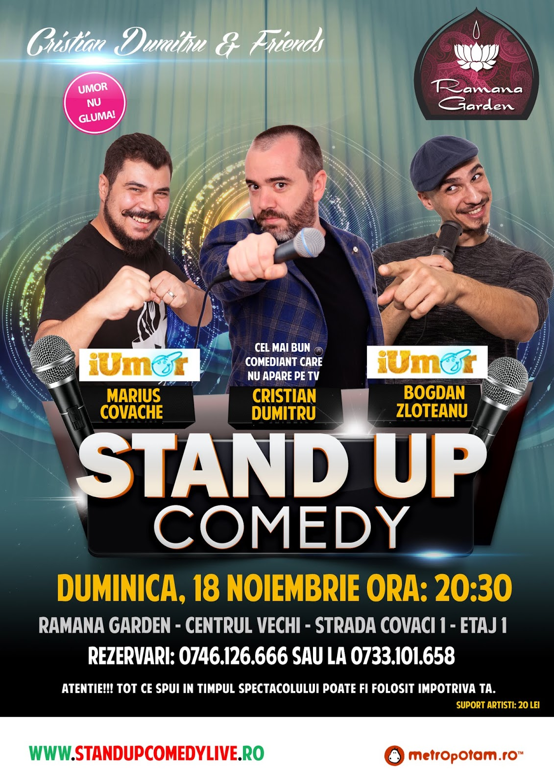 Stand-Up Comedy Duminica 18 Noiembrie Bucuresti