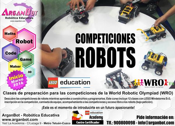 Preparacion para la competiciones de robots WRO